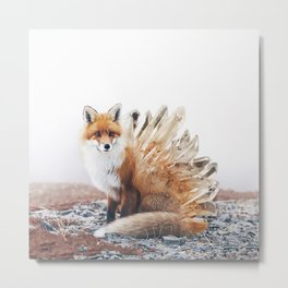 Crystal Fox Metal Print