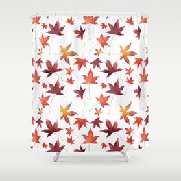Dead Leaves over White Shower Curtain