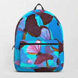 Shiny Blue And Pink Butterflies On A Turquoise Background #decor #society6 #pivivikstrm Backpack