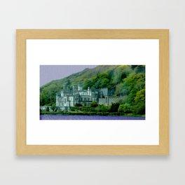 Kylemore Castle Photo Painting Framed Art Print