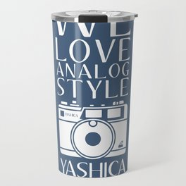 """We Love Analog"" Travel Mug"