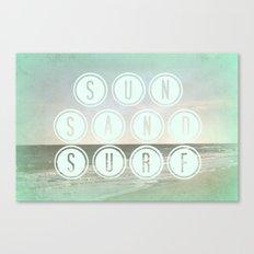 Sun, Sand, Surf  II Canvas Print
