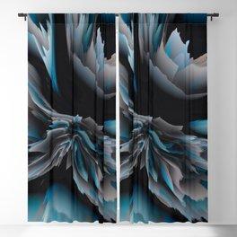 glitchy blossom Blackout Curtain