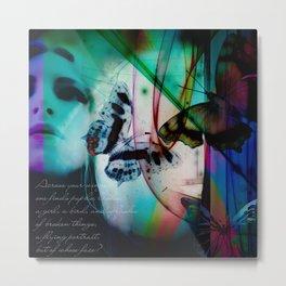 Butterflies in the twilight Metal Print