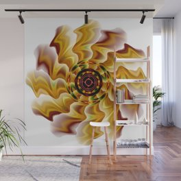 Fire Lotus Flower Abstract Wall Mural