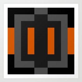 Black and Orange Art Print