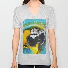 parrot ara #ara #parrot #animals Unisex V-Neck