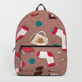 A Cozy Winter's Night Backpack