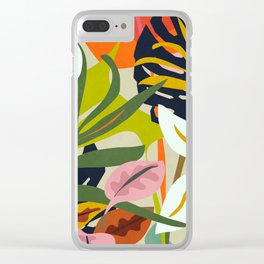 Jungle Abstract 2 Clear iPhone Case