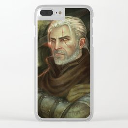 Geralt of Rivia Clear iPhone Case