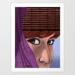 Looking inside Art Print