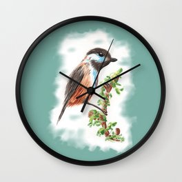 Watercolor Bird Wall Clock
