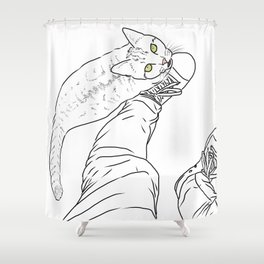 Everything I know I learned from my cat Shower Curtain