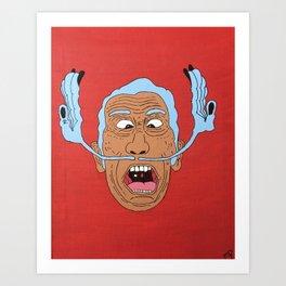 Crazy Dalí (Inverted) Art Print