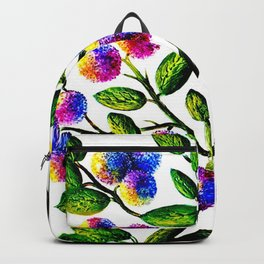 Blue Pink Yelow Flower Branch Clip Art Backpack