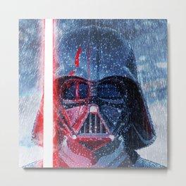 Darth Vader Storm Metal Print