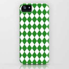 Diamonds (Forest Green/White) iPhone Case