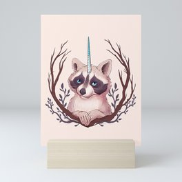 Raccoon Unicorn Mini Art Print