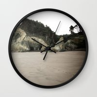 coasters Wall Clocks featuring Hug Point, Oregon by A Wandering Soul