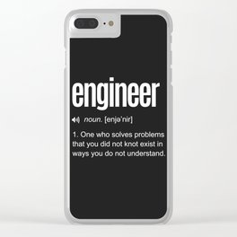 Funny Engineer Definition Clear iPhone Case