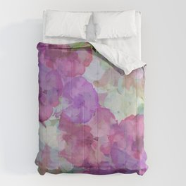 Sweet Peas Floral Abstract Comforters