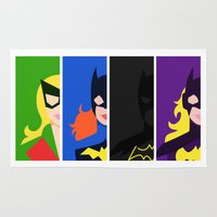 batgirl Area & Throw Rugs featuring Batgirl Through The Ages by lolcilc