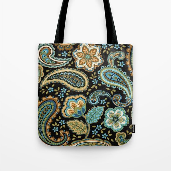Floral Paisley Pattern 07 Tote Bag