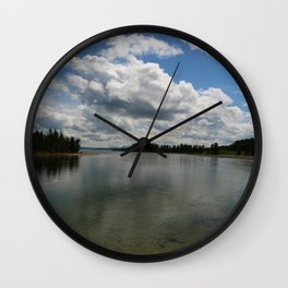 Yellowstone Lake View Wall Clock