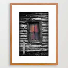 Window and Color Framed Art Print