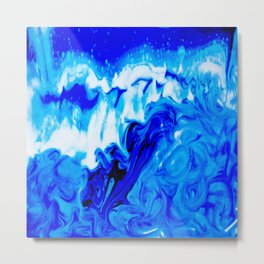 Fluid Abstract 32; Crashing Waves Metal Print