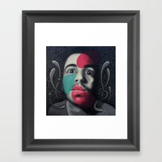 Colour Pressure autorretrato Framed Art Print
