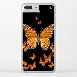 WORLD OF MONARCH BUTTERFLIES Clear iPhone Case