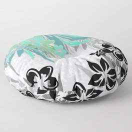 Hawaiian Teal Tropical Floor Pillow