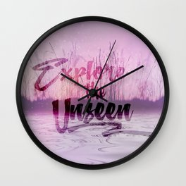 Explore the Unseen calm Water Wall Clock