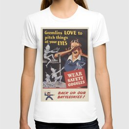 Vintage poster - Workplace safety T-shirt