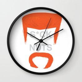 A Champion's Last Words Wall Clock