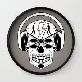Groovy Skull Wall Clock