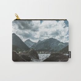 Mountains under cloudy sky Carry-All Pouch