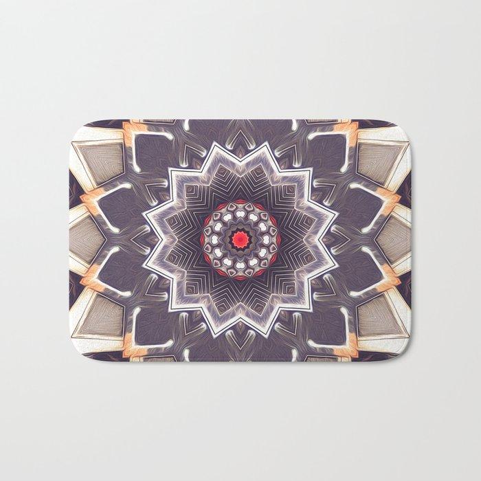 Abstract Gray Mandala Bath Mat