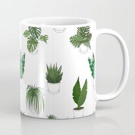Houseplants Illustration (white background) Coffee Mug