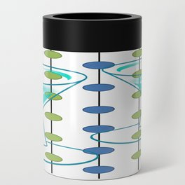 Mid-Century Modern Atomic Art Cocktails 1.0 Can Cooler