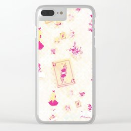 Whimsical Alice Clear iPhone Case