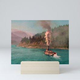 The Columbia Below The Cascades - Circa 1901 Photochrom Mini Art Print