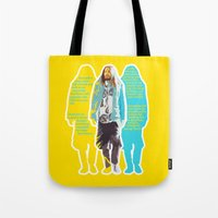 jared leto Tote Bags featuring Jared Leto and his wisdom  by Olga Panteleyeva