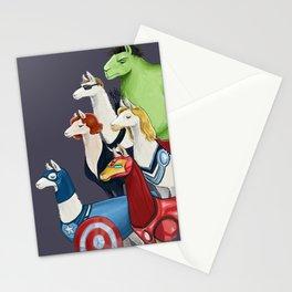 Avenger llamas Stationery Cards