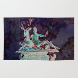 Fountain of Diana - Collage in Amethyst Rug