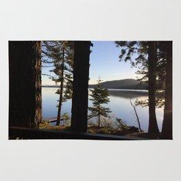 Lake Tahoe cabin view Rug