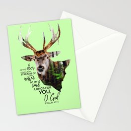 As the deer longs for streams of water so my soul longs for you,O God-Psalm 42:1 Stationery Cards