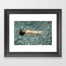 Ophelia in a Pool Framed Art Print