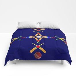 Sport Of Cricket Design version 3 Comforters